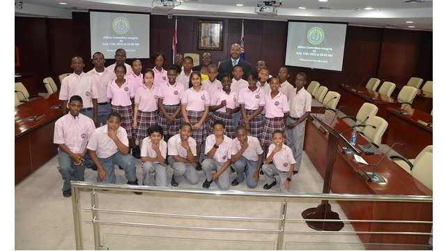 Seventh Day Adventist School Grade Six Students Visit Parliament