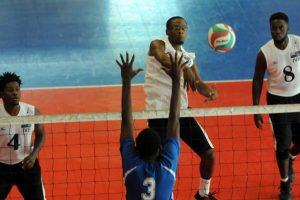 Paul Mourillon of Virgin Islands spiks against Dutch Saint Marrten 02