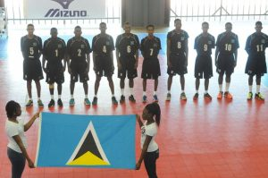 Team of Saint Luciaduring the national anthem against Grenada_ 01